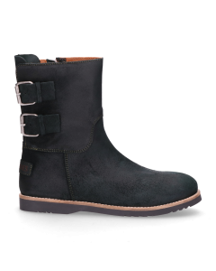 Kids-ankle-boot-waxed-suede-Dark-Green-28-35