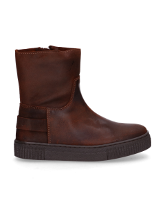 KIDS-//-Ankle-boot-waxed-suede-Brown-28-35