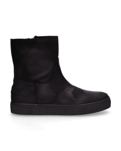 KIDS-//-Ankle-boot-waxed-suede-Black-36-39