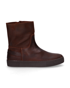 KIDS-//-Ankle-boot-waxed-suede-Brown-36-39