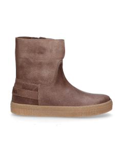 KIDS-//-Ankle-boot-waxed-suede-Taupe-36-39
