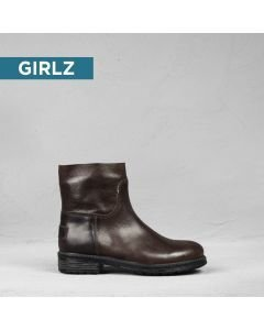 Kids-ankle-boot-grain-leather-Brown