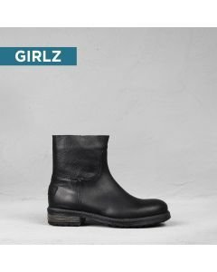 Kids-ankle-boot-grain-leather-Black