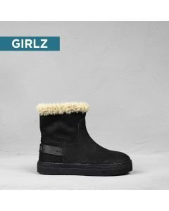 Kids-ankle-boot-suede-Black
