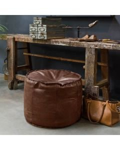 POUF-GINGER-HAND-BUFFED-LEATHER-Dark-Brown