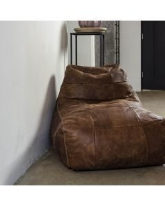 BEANBAG-LAZY-FRED-HAND-BUFFED-LEATHER-Dark-Brown