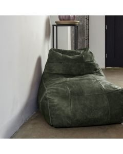 BEANBAG-LAZY-FRED-HAND-BUFFED-LEATHER-Dark-Green