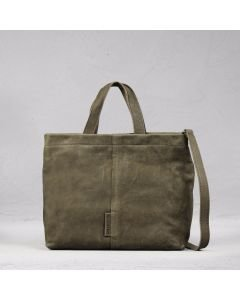 Handbag grain leather Taupe