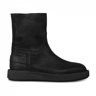 Ankle-boot-waxed-suede-Black-