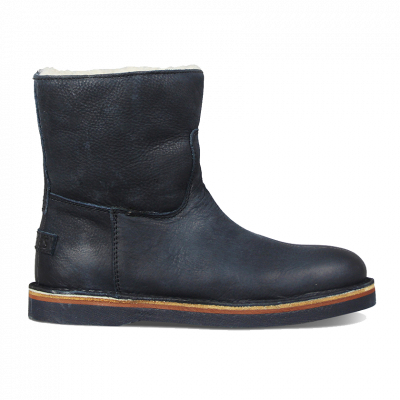 Ankle-boot-waxed-grain-leather-Dark-Blue