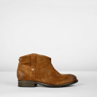Ankle-boot-suede-Cognac
