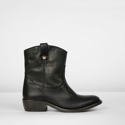 Ankle-boot-lizzard-printed-leather-Black