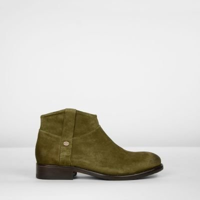 Ankle-boot-suede-Olive-Green
