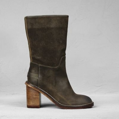 Boot-waxed-suede-Dark-Olive-