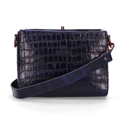 Shoulderbag-croco-printed-leather-Kobalt-Blue