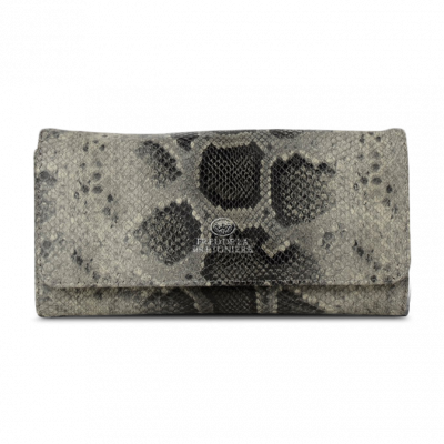 Wallet-faux-python-leather-Dark-Grey