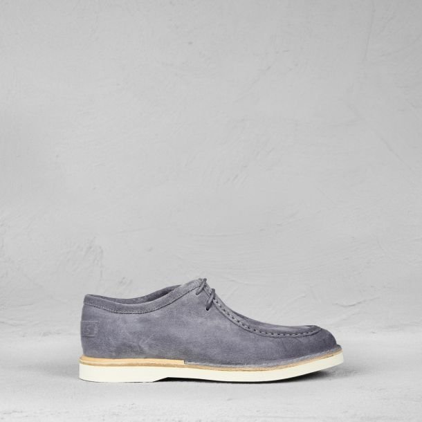 Lace-up shoe suede Denim Blue