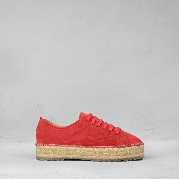 Espadrille-lace-up-shoe-suede-red