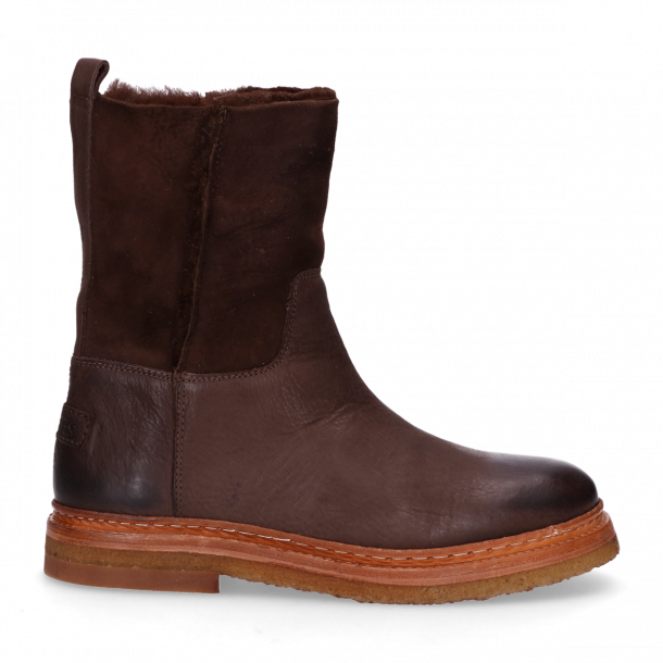 Ankle-boot-waxed-grain-leather-with-double-face-Dark-Brown