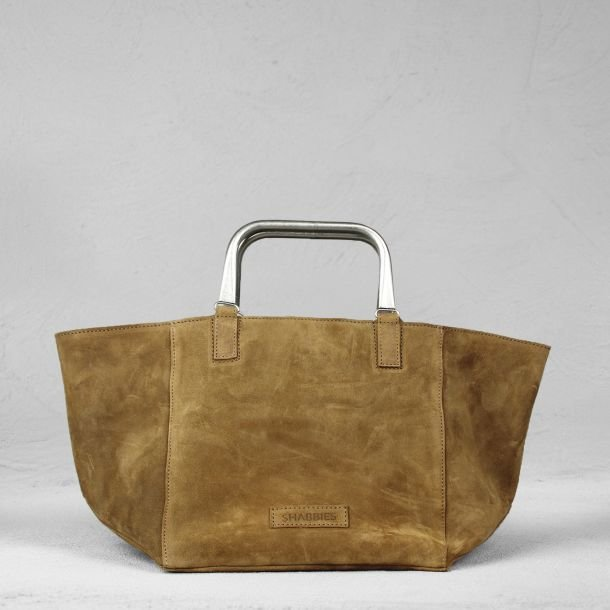 Handbag suede Light Brown