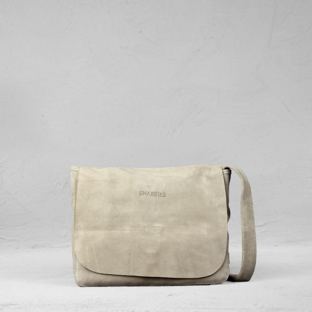 Shoulderbag suede Taupe