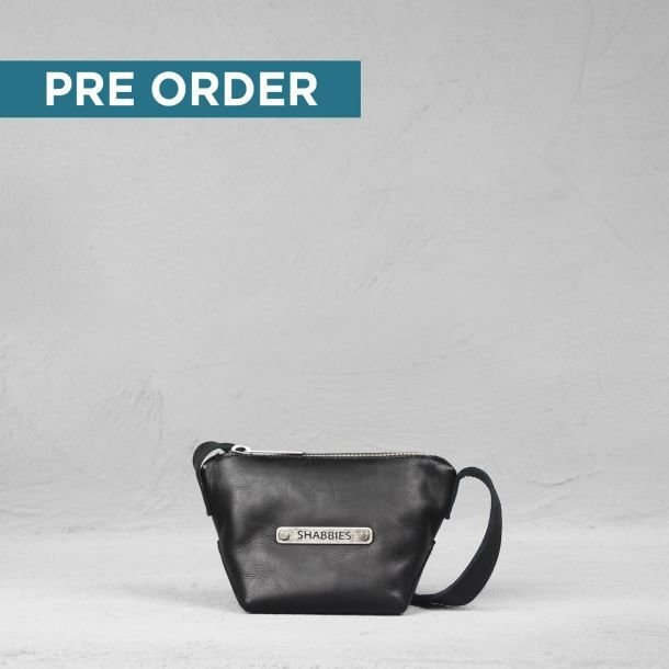 PRE ORDER BIKER CROSSBODY SMALL SMOOTH LEATHER BLACK