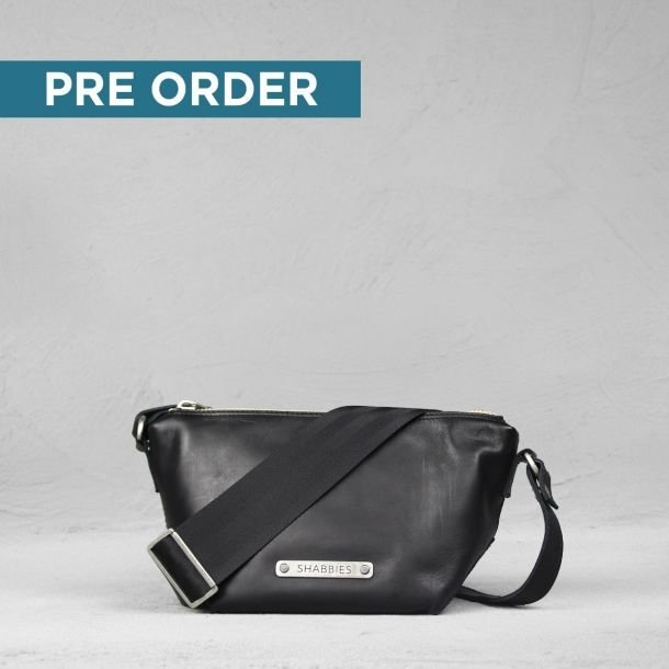 PRE-ORDER BIKER CROSSBODY SMOOTH LEATHER BLACK