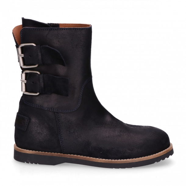 Kids-ankle-boot-waxed-suede-Navy-Blue-36-39