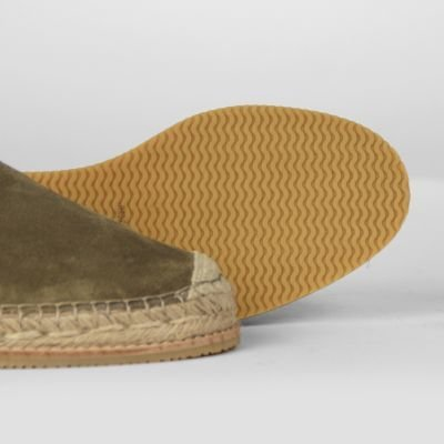 fred de la bretoniere espadrille loafer with sporty sole in suede taupe 152010009 detail sole