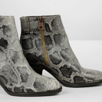 Ankle-boot-python-printed-leather-Taupe