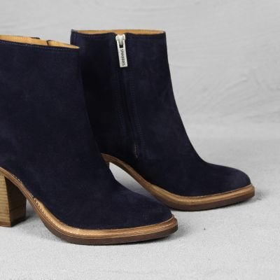 ANKLE-BOOT-HIGH->6-CM-SUEDE-Navy