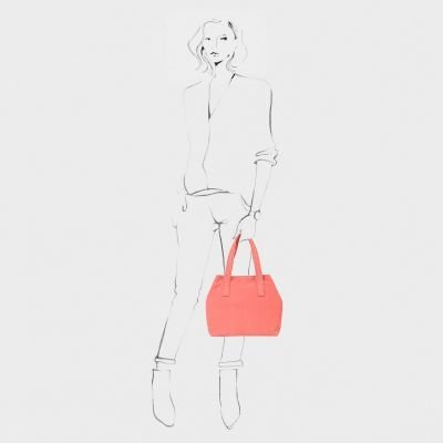 SHOULDERBAG-MEDIUM-SUEDE-Coral-Red