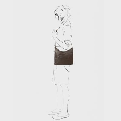 Shoulderbag-natural-tanned-leather-Brown