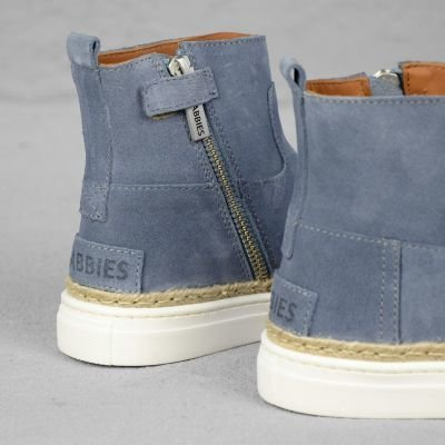 Shabbies Amsterdam Suède Tissé Baskets Enfants Denim 28-35 Hc8PDmMV
